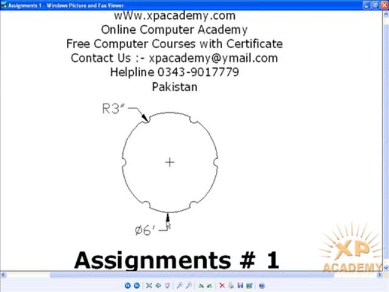 AutoCAD Urdu Tutorials   Assignments