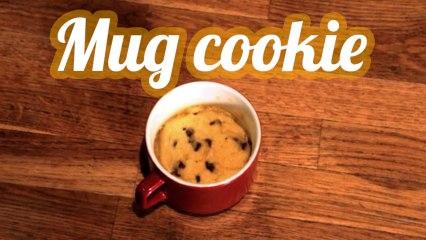 Mug cookie au micro-ondes
