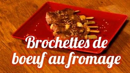 Brochettes de bœuf au fromage maison