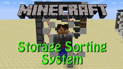 Minecraft: Storage Sorting System, Redstone Showcase