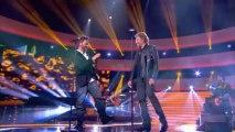 """Johnny Hallyday et Christophe Maé """" Marie """" - Johnny Hallyday, Le Grand Show 21/12/2013"""