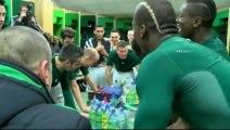 La joie des Verts après ASSE 2-0 Nantes