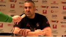 Rugby Top 14 - Christophe Urios réagit après Oyonnax - Bayonne / 1ère partie