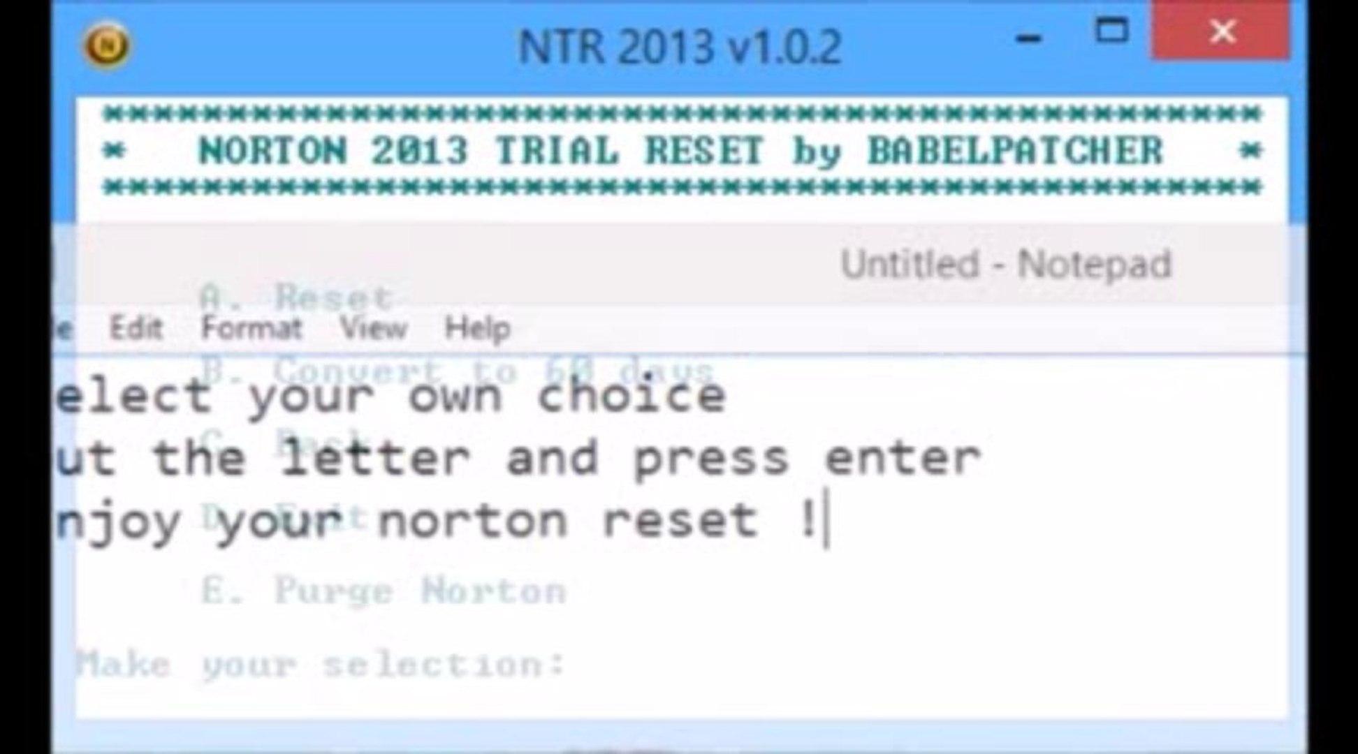 Norton 2013 Trial Reset v1 0 2 [2014 Updated]