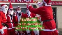 La Chorale au Noël à la Roseraie ,les illuminations et les pères Noël