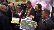 Cote Chantier special ouverture du jardin Nelson Mandela