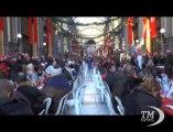 A Napoli pranzo di Natale per i bisognosi alla Galleria Principe. Iniziativa della Camera di Commercio arrivata al 18esimo anno