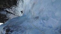Cascade de glace de Loriaz Aiguilles Rouges Chamonix Mont-Blanc massif