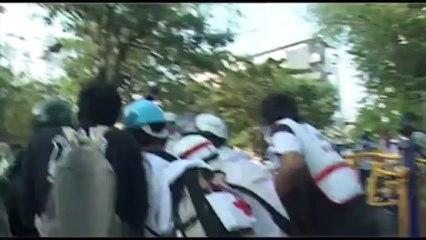 Bangkok (Thailande) 26:12:2013 Violences policieres