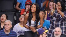 Engaged Gabrielle Union Flashes Her Bling At The Lakers Game
