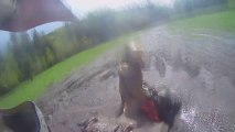 Quad Bike Offroading + 1 Quad Crashes Into The Back Of Another
