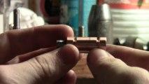 Usinage piston avec perceuse a colonne