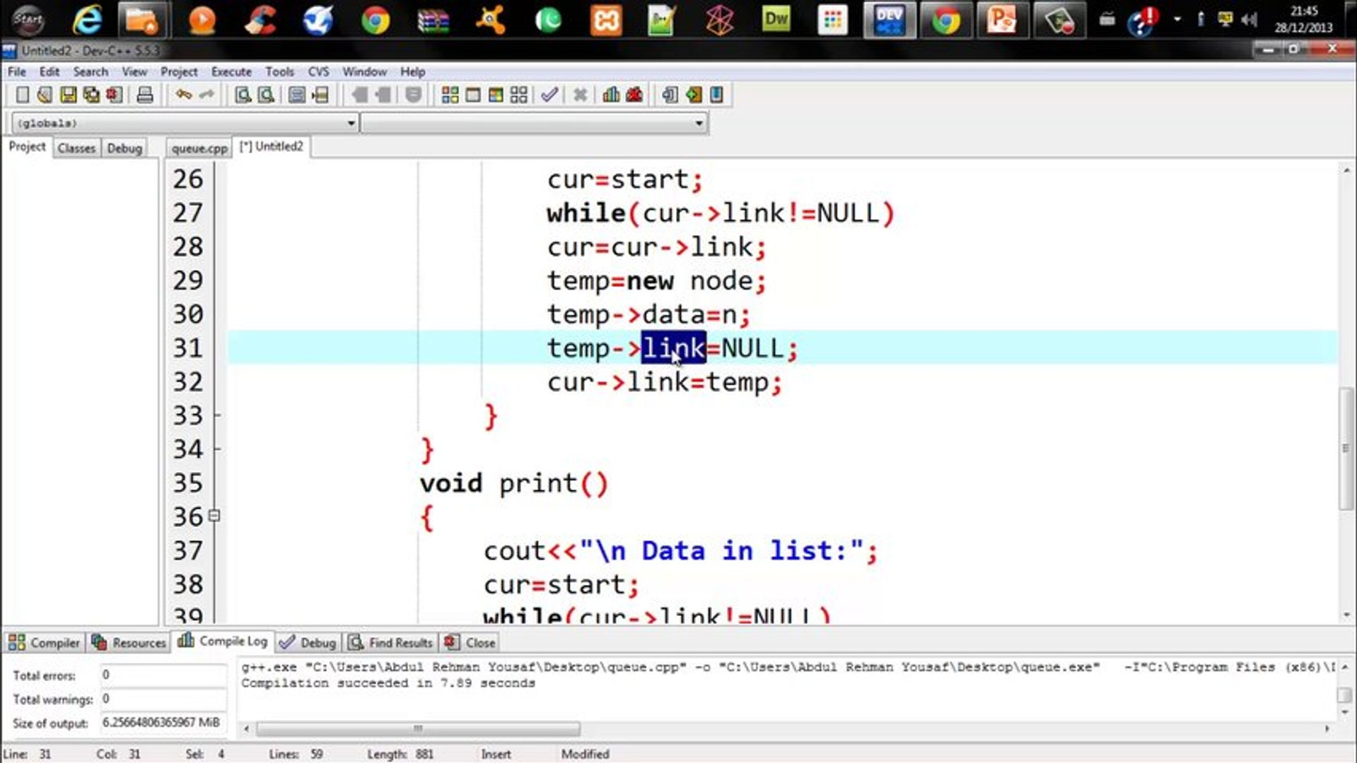 Introduction Of Linked List With C++ :Urdu Tutorials