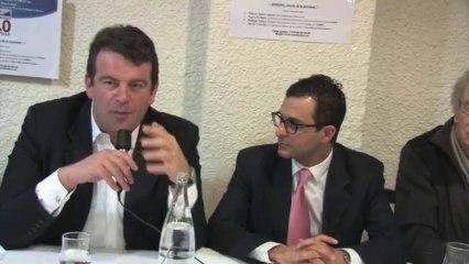Le député UMP Thierry Solere soutient Arash Derambarsh à Bécon Courbevoie