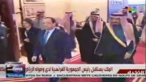 Encuentro entre pdte. Francois Hollande y rey Abdalá bin Abdelaziz