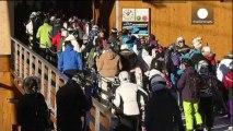 Tristeza y prudencia en la estación de esquí de Méribel tras el accidente de Schumacher