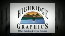 online printing | printing services, by Highridge Graphics Highridge Graphics