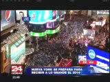 Nueva York: Inician preparativos para celebrar Año Nuevo en el Times Square