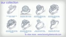Beverly Diamond - Engagement Diamond Ring, Round Cut Diamond, Princess Cut Diamond