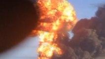 Train explodes into flames in North Dakota