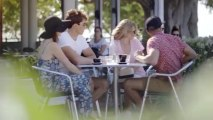 So funny : Sun Mum at the cafe! Schooling some silly sods about being sun safe