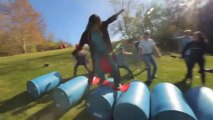 Awesome new extreme sport: Barrel Surfing!!