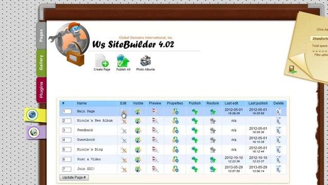 Change Your SiteBuilder Template