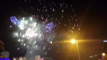 New Year 2014 Celebrations Fireworks at KLCC, Petronas Towers (Twin Towers) Kuala Lumpur, Malaysia
