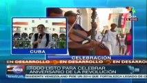 Cubanos conmemoran 55 aniversario del triunfo revolucionario