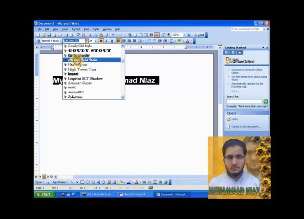 How to Formatting Fonts and Text Alignment in Microsoft Word in Urdu and  Hindi - video dailymotion