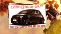 Fiat 500 noir mat, Fiat 500 noir mat, Fiat 500 noir mat, Fiat 500 Covering noir mat, Fiat 500 peinture noir mat, Fiat 500 noir mat