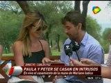 Pronto com ar Paula y Peter se casan en vivo