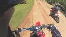 CRF250R Dirt Bike Riding + Couple Bails