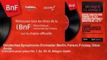Deutsches Symphonie-Orchester Berlin, Ferenc Fricsay, Géza Anda - Concerto pour piano No. 1