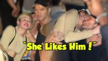 """""""She Likes Him A Lot"""" Miley Cyrus Kellan Lutz Together"""