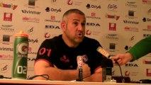 Rugby Top 14 - Christophe Urios  réagit après Oyonnax - Racing Métro (2e partie)