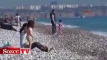 Antalya'da deniz keyfi bitmiyor