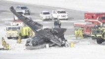 Plane explodes and crashes into runway at Colorado airport