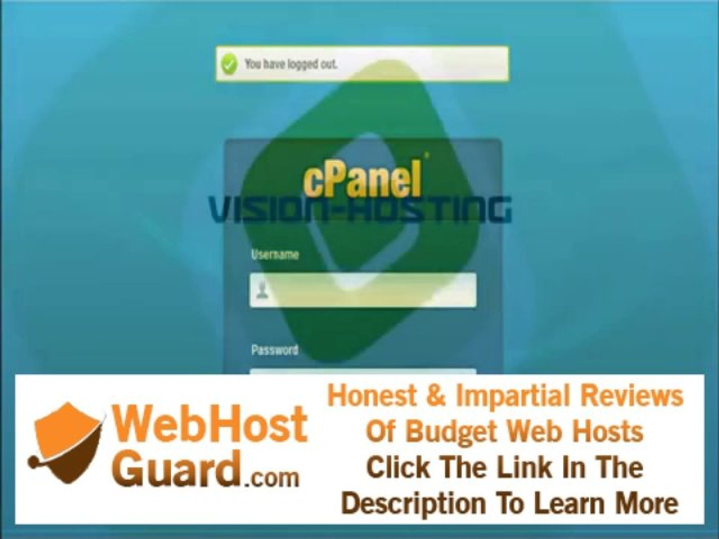 How to Login to cPanel Tutorial - Vision-Hosting