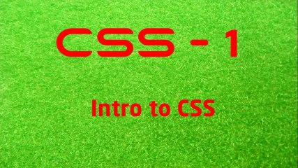CSS - 1 LearnWithSaad - Intro to CSS