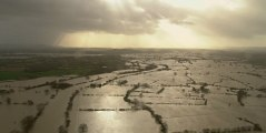 Des images aériennes montrent l'ampleur des inondations en Angleterre