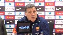 """Martino: """"Messi nos da confianza, nos hace crecer y sentirnos más seguros"""""""