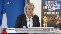 Évènements : Voeux à la presse de Marine le Pen, présidente du Front National.