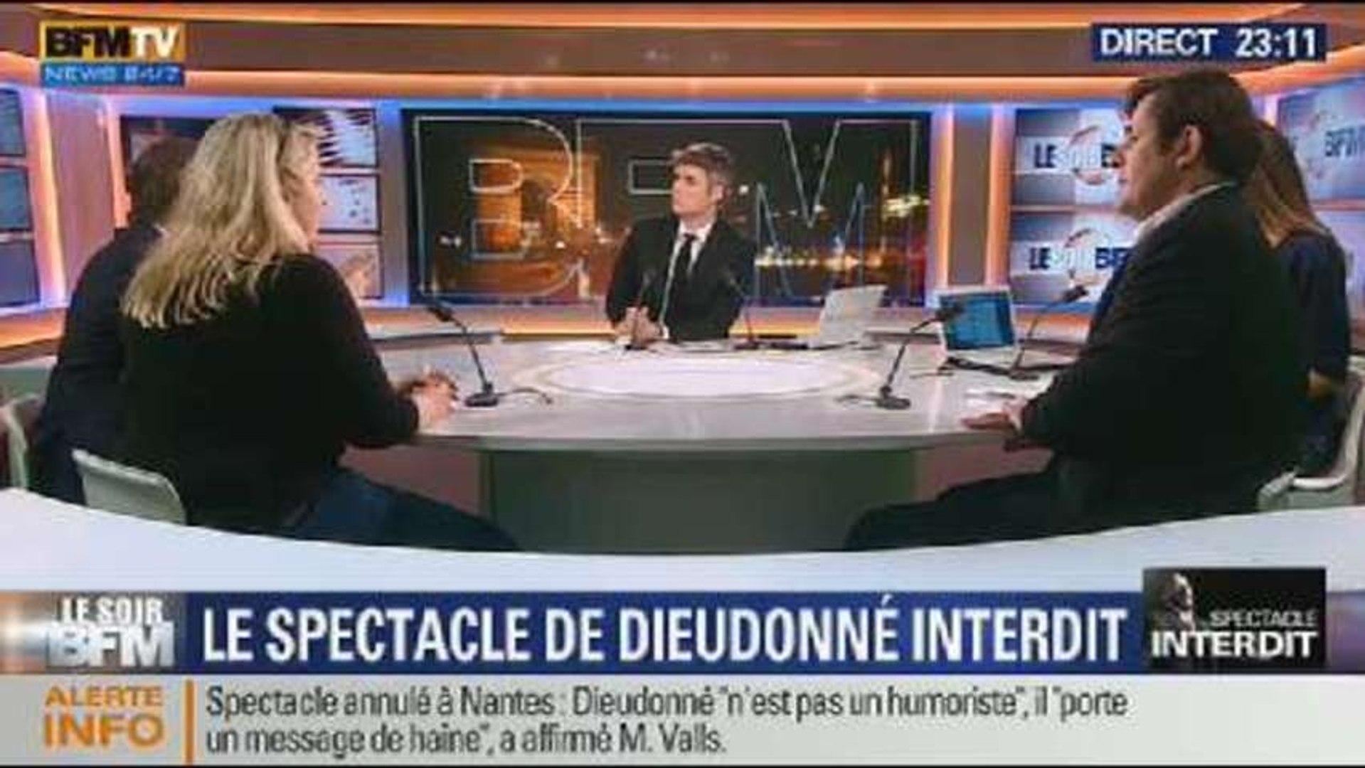 Le Soir BFM: Le spectacle de Dieudonné est interdit - 09/01 2/2