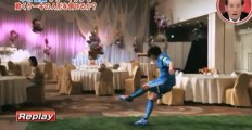 Shunsuke Nakamura amazing free kick at a wedding !!