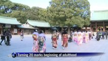 Japanese girls come of age in Japan ceremony