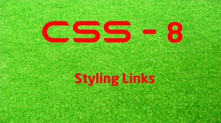 CSS - 8 LearnWithSaad - Styling Links