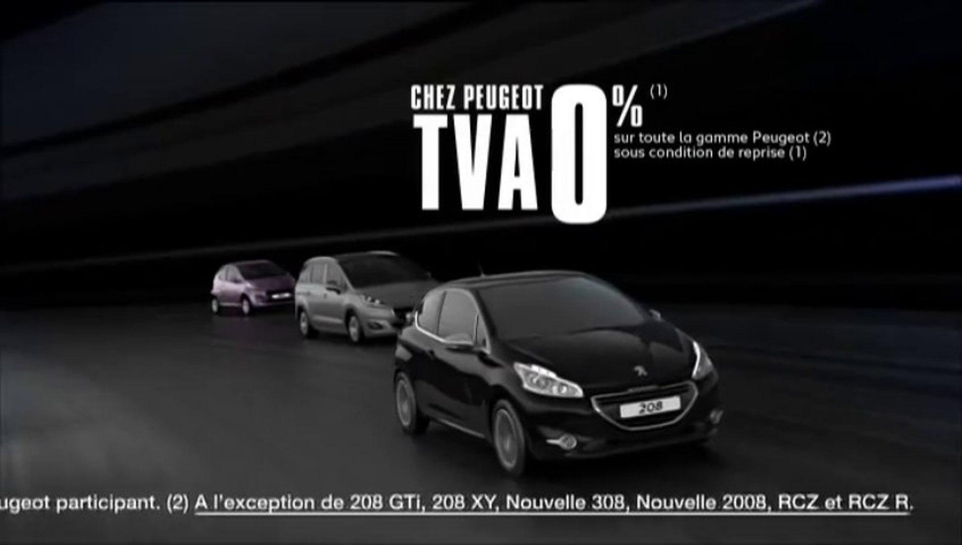 Publicité Peugeot 208 - Sensations uniques - TVA 0% (30s) - 2014 ( ****.feline208.net )