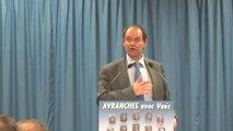municipales Avranches 2014 - meeting de Guénhaël Huet, maire sortant - 27 fév 2014 - déclaration générale