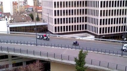 Grève des Taxis : Circulation bloquée sur le boulevard  circulaire à la Défense